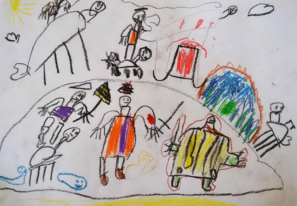 Dečji Likovni Konkurs Afričke Kuće Od Boja I Slika